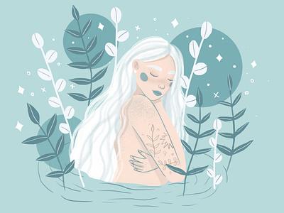 Summer girl childrens illustration dtiys girl illustration art girl illustration design illustration