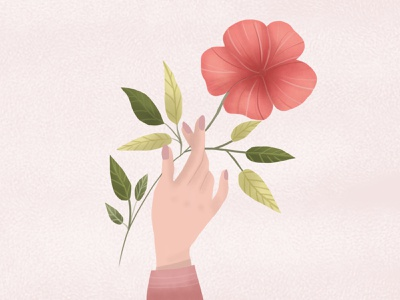 Flower of happiness childrens illustration illustration art design illustration