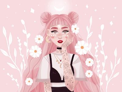 Fairy flower illustration challenge girl dtiys girl illustration illustration art design illustration