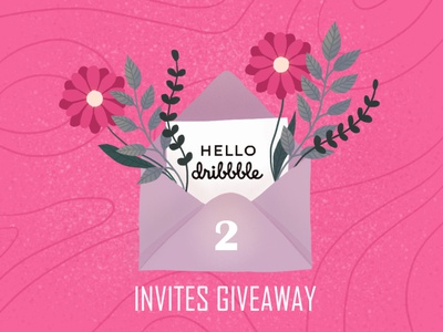 2 DRIBBBLE INVITES logo dribbble best shot branding digital illustration digital art vector illustration vector design illustration art illustration dribbbleinvite dribbble invitation dribbble invite