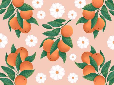 Oranges vector branding vector art digital art digital illustration pattern design pattern art pattern vector illustration design illustration art illustration