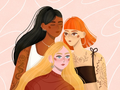 WE ARE ALL POWERFUL AND BEAUTIFUL character design character vector illustration girl illustration vector art digital illustration digital art design illustration art illustration