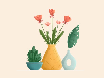 Hello spring! flower illustration character design vector vector art vector illustration digital illustration digital art design illustration art illustration