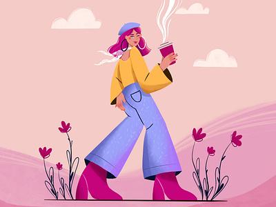 Coffee Break vector character design character vector art vector illustration digital illustration digital art design illustration illustration art