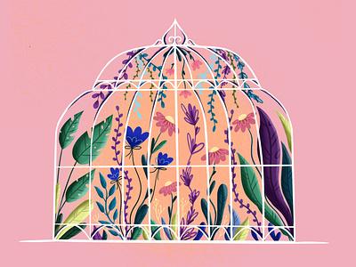 Floral cell flower illustration branding vector vector art vector illustration digital illustration digital art illustration design illustration art