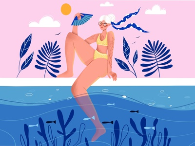 Swimming pool vector character design character vector art vector illustration digital illustration digital art illustration design illustration art