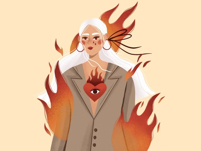 Fire on fire vector character design character vector art vector illustration digital illustration digital art illustration design illustration art