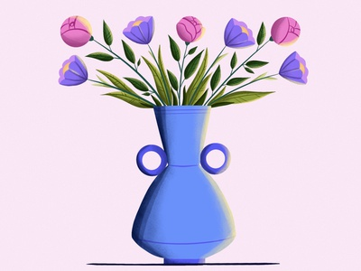 Spring flowers vector character design character vector art vector illustration digital illustration digital art illustration design illustration art