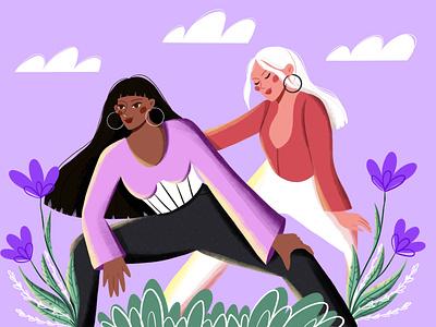 Girls character graphic design vector art vector illustration digital illustration digital art illustration design illustration art