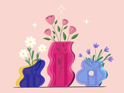 Vases graphic design branding vector art vector illustration digital illustration digital art illustration design illustration art