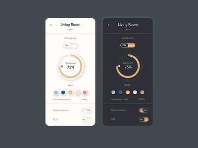Home settings App UI app mobileappdesign uidesign design ui design ui dailyuichallenge dailyui daily 100 challenge