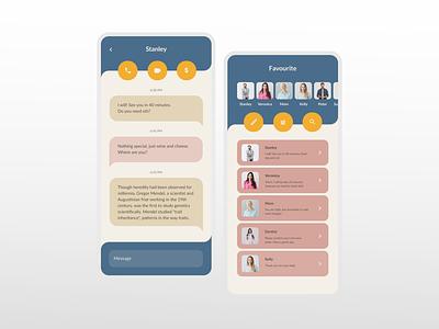 Messaging App UI messaging app messenger messaging app mobileappdesign uidesign design ui design ui dailyuichallenge dailyui daily 100 challenge