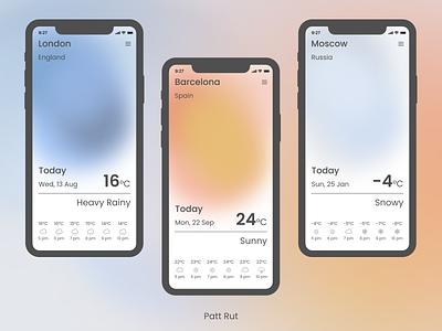 Weather app ux ui app design app minimalistic uidesign design ui design dailyuichallenge dailyui daily 100 challenge weather app ui
