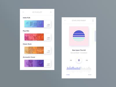 09 - Music Player  dailyui playlist ux app gradient player music ui