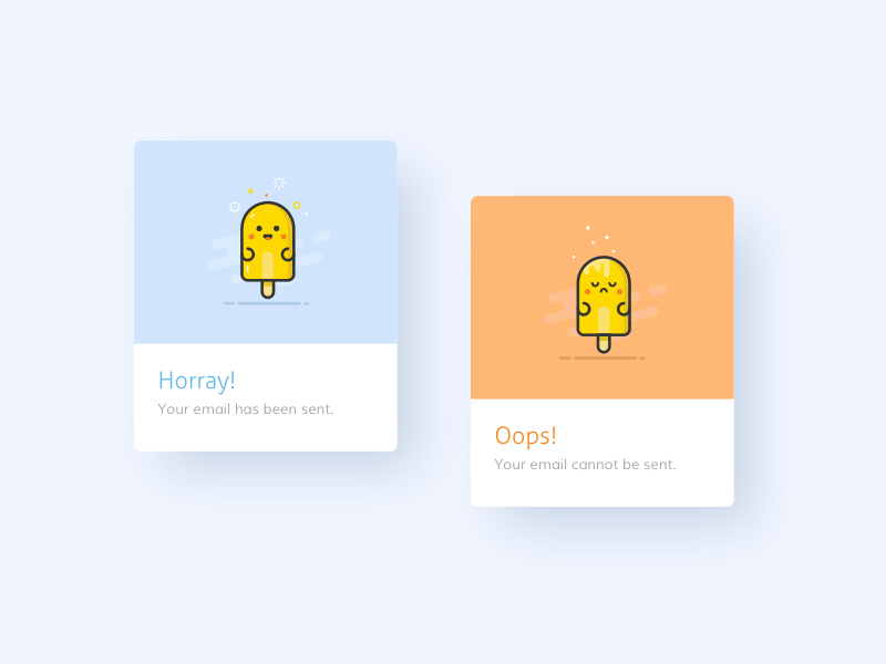 011 - Flash Message message ui dailyui ice cream emoji notification modal alert