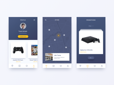 Reward App - Unused Concept ui design games ios card minimal gradient app reward