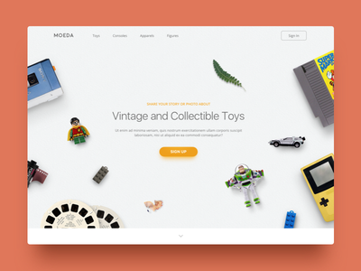Oldies Landing Page signup ui web daily ui toys clean landing page
