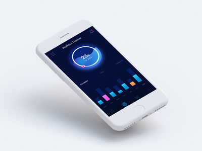Workout Tracker - Concept tracker workout ux iphone statistic clean ios gradient ui