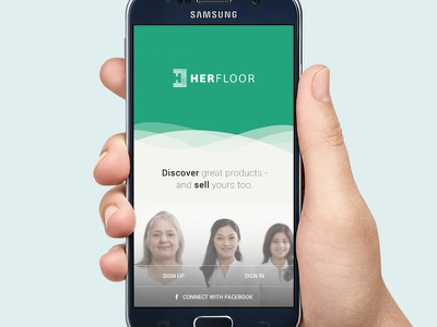 Home Screen mobile ui landing screen