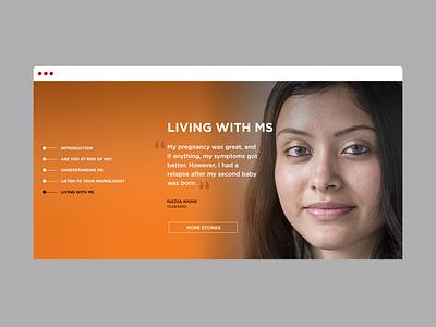 LetsBeatMS landing screen web design
