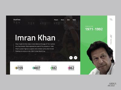 Sports Person Profile UI ui user profile personal web design experiment landing screen