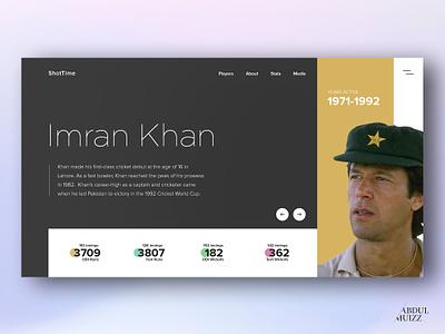 Sports Person Profile UI - Rebound uidesign ui design landing screen personal website web design
