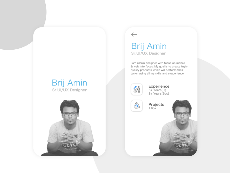 My Resume Application resume cv typography vector flat ui clean design branding illustration