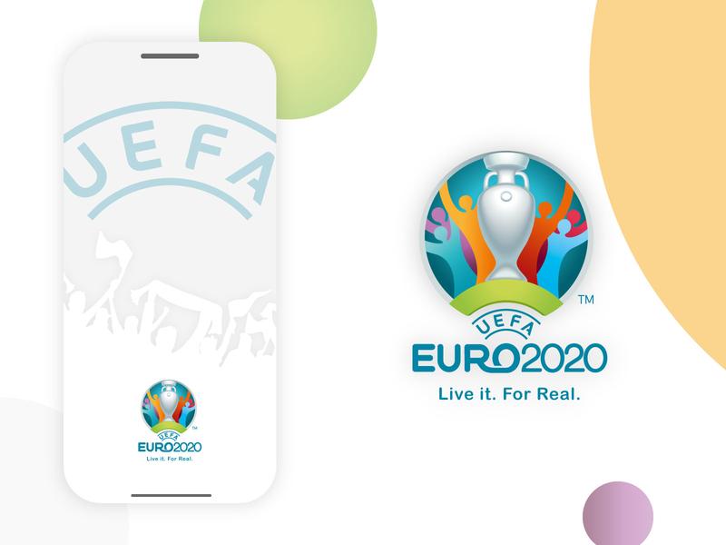 EURO 2020 Concept App splash football uefa euro2020 euro ux ui app typography clean design branding illustration