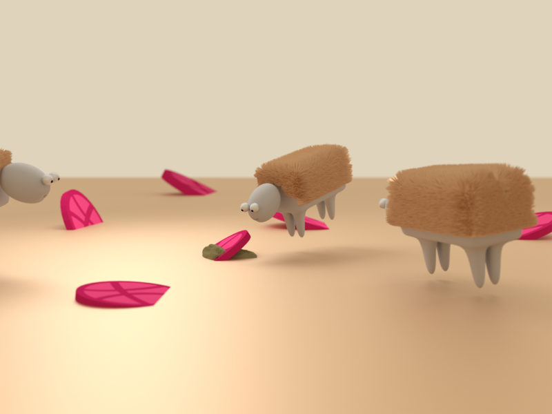 Happy New Year Dribbble illustration sheep blender dribbble toon 3d