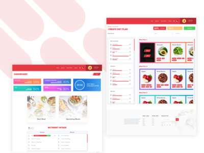 Diet Management Website Concept weight loss branding clean illustration website design ux ui diet food health