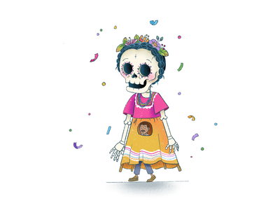 Mojiganga party mexican culture skull procreate mexican art illustration
