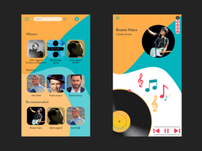 Music Player ui-design color daily-ui