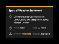 Weather Alert Card