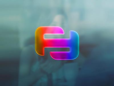 gradient monogram