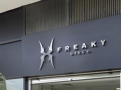 freaky disco disco signage mockup signage design signage freaky sign