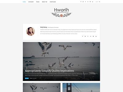 Hworih - Clean & Responsive WordPress Blog Theme webdesign clean responsive wordpress blog theme personal