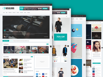 Kepler - Magazine/Personal Blogging HTML Template corporate clean business bootstrap shop portfolio news modern magazine flat fashion blog