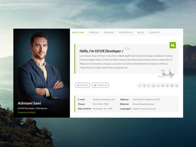 Riche vCard | Personal vCard HTML Template vcard timeline skills resume responsive professional portfolio personal html5 flat cv creative