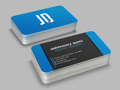 Creative Business Card modern minimal freelancr designer design creative corporate clean card business blue agency