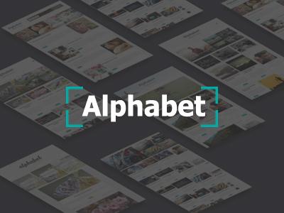 Alphabet - A Responsive WordPress Blog Theme white typography simple readability modern minimal instagram creative clean blogging blog alphabet