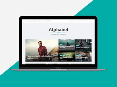 Alphabet - A Responsive WordPress Blog Theme alphabet blog blogging clean creative instagram minimal modern readability simple typography white