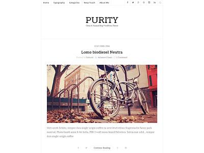 Purity - Clean & Minimal Blog WordPress Theme blog blogging clean creative instagram masonry minimal modern personal read readability typography