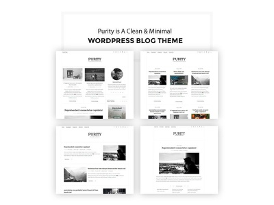 Purity - Clean & Minimal Blog WordPress Theme typography readability read personal modern minimal masonry instagram creative clean blogging blog