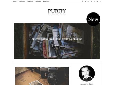 Purity - A Responsive WordPress Blog Theme typography readability read personal modern minimal masonry instagram creative clean blogging blog