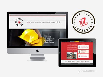 Project: Urbanizadora Zavaleta website and logo