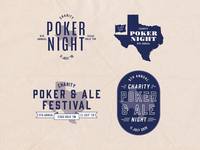 Poker Night Logo Explorations branding badge poker night charity night logo bbq texas poker