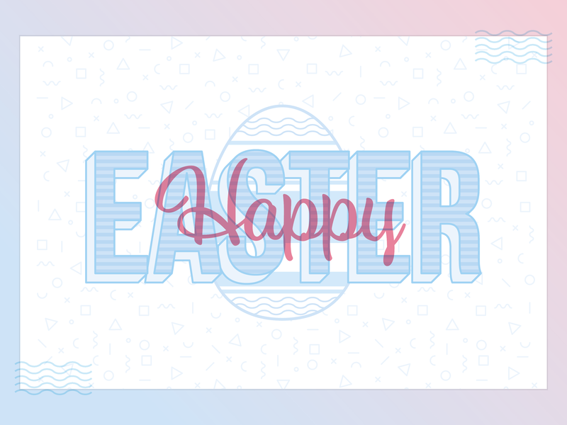 Happy Easter church jesus culture internal graphic design gradient illustration typography easter egg easter