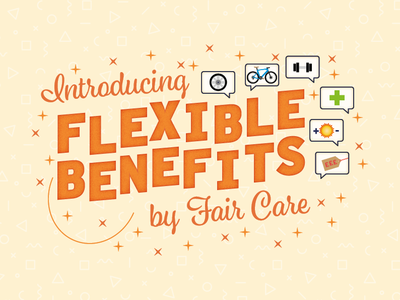 Flexible Benefits Logo icon branding internal logo design type illustration typography