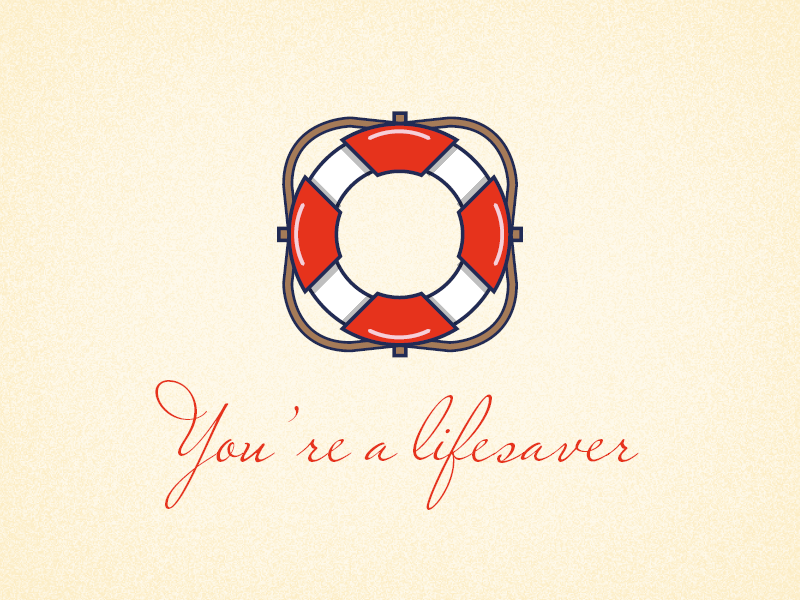 Lifesaver lifesaver icon clean design clean vector typography logo design illustration