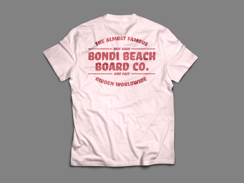 Bondi Beach Board Co. T Shirt no.4 bondi apparel design apparel logo branding design type vector illustration typography